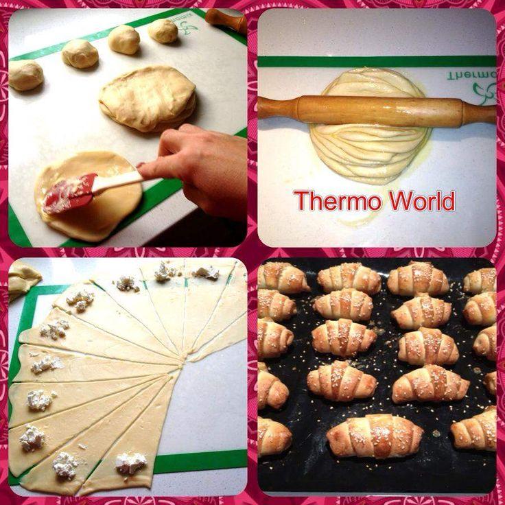 Recipe KIFLI - MACEDONIAN CHEESE ROLLS by THERMO WORLD - Recipe of category Breads & rolls