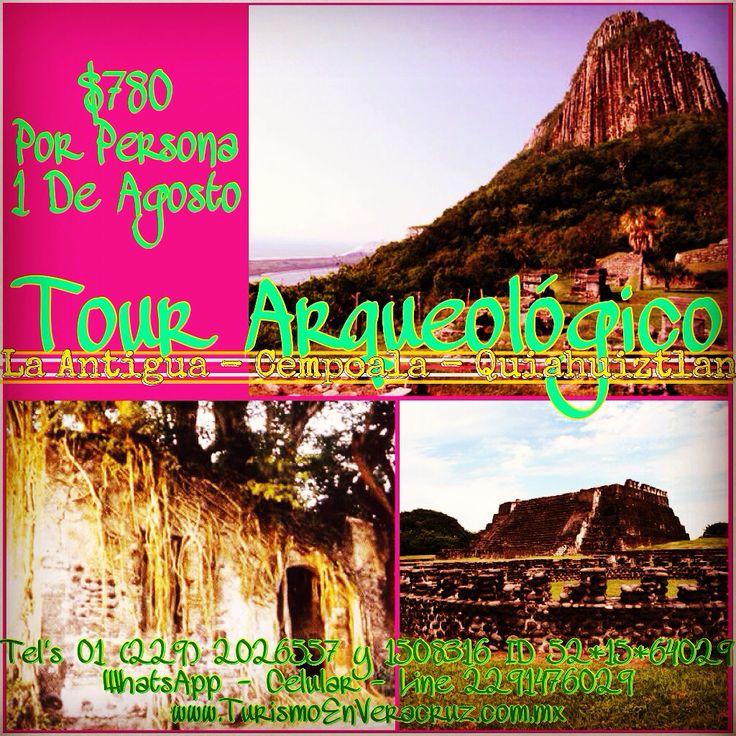 #LaAntigua #Cempoala #Quiahuiztlan este 1 de agosto http://www.turismoenveracruz.mx/tours/ #Veracruz @bocadelrio_