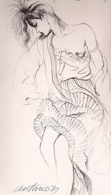 Illustration by Antonio Lopez, 1979, Italian Vogue.