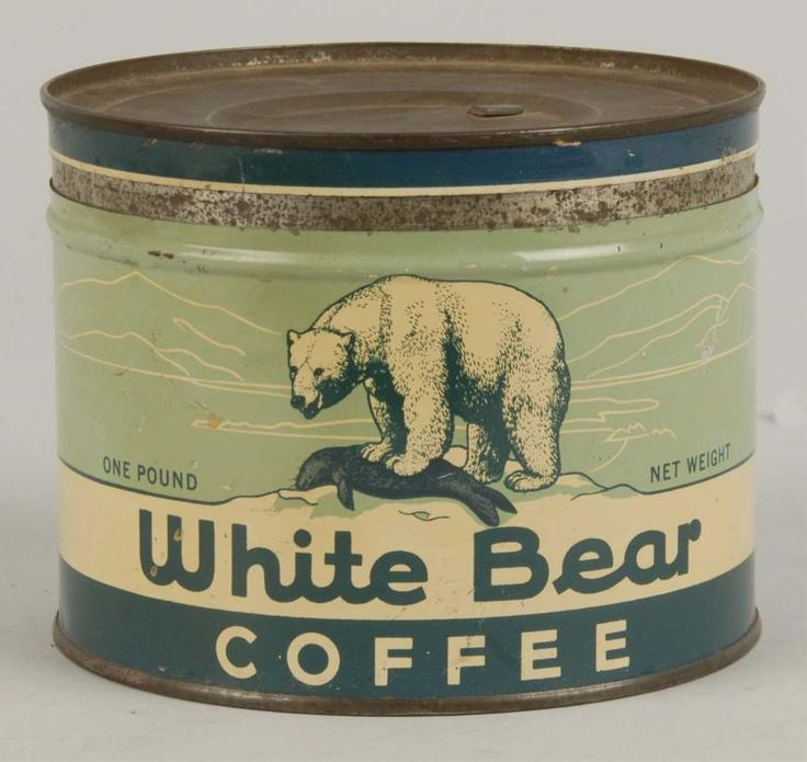 White Bear Coffee tin - vintage