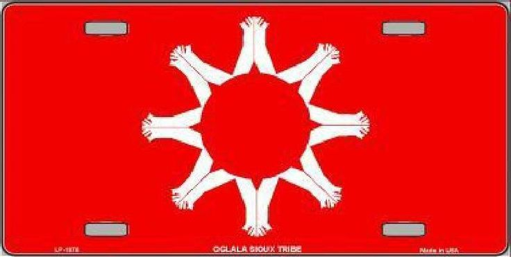 Oglala Sioux Tribe Flag Tag Sign