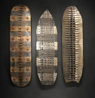 up cycled skateboardsWood Art, George Peterson, Folk Art, Upcycling Skateboards, Skateboards Sculpture, Skateboards Art, Circles Factories, Urban Zen, Recycle Skateboards