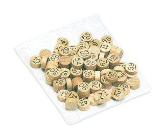 JeuJura – 8988 – jeu de société en bois – Sachet de 90 pions de loto en bois: Accessoires pour Jeux de Société Sachet de 90 pions de loto…