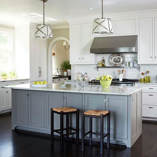 White Kitchen Design Ideas  White Cabinets, Islands and Cabinets