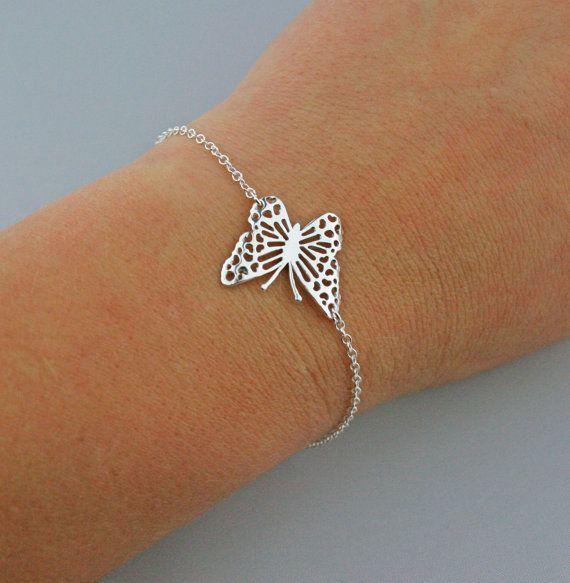 Sterling Silver Filigree Butterfly Bracelet by JewelleryByZM, £16.00