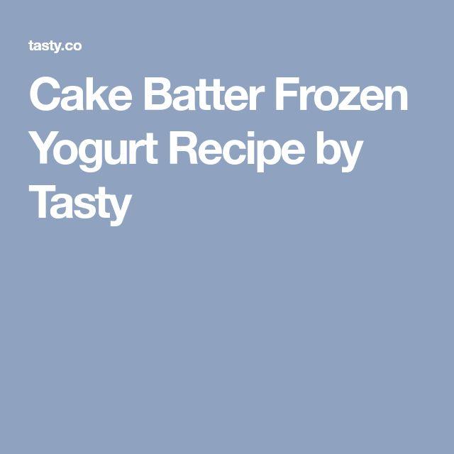 Cake Batter Frozen Yogurt Recipe by Tasty