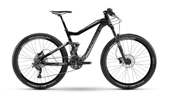 #Bicicleta #MTB Full #Suspension #Haibike Q.XC 7.10 Q.XC 7.10 amortizează folosind Rock Shox Reba SL și Rock Shox Monarch RT, în timp ce franarea este asigurată #Shimano #Deore BR-M615. Rezultatul este tradus în fluență pe coborâre. Același Shimano Deore va schimba precis cele 3x10 viteze, cu mențiunea că #schimbatorul spate este un Shimano SLX.