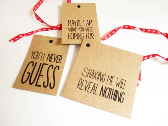 Funny Unique Printable Christmas Gift Tags, set of three, instant download on Etsy, $6.65