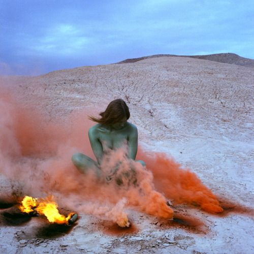 Judy Chicago, Immolation IV from the Women and Smoke Series