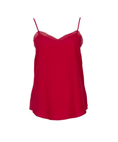 Crochet Trim Cami in Red #rickis #fall2014