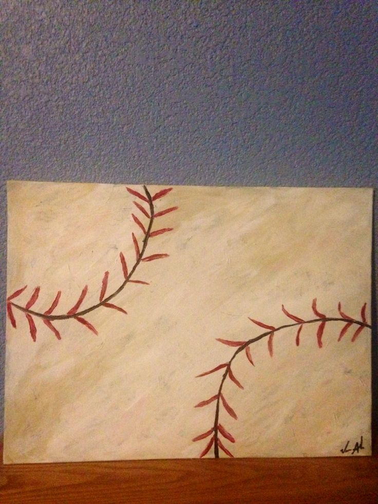 Baseball acrylic painting on canvas