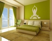 Beautiful combination - Yoga and Peridot: Color, Decorating Ideas, Wall Painting, Wall Decal, House, Bedroom Spaces, Home Walls Ideas, Green Rooms, Bedroom Ideas