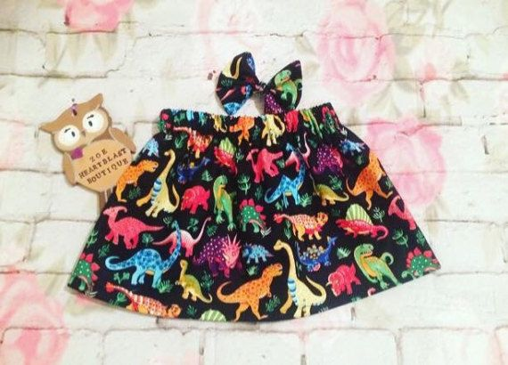 Girls Dinosaur Skirt Multicoloured Rainbow Dino Roar Rawr