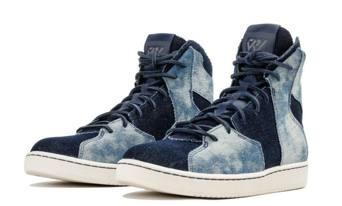 This take on Westbrook's off-court model features a deconstructed denim upper. Designers used the shoe's uniquely layered upper to showcase bleached