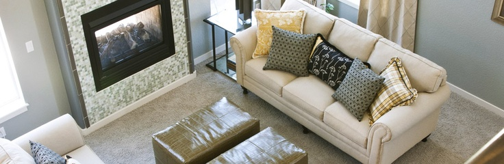 Family room of our Aurora, new model home in Colorado Springs School District 20 Community Wolf Ranch. http://creekstone-homes.com/