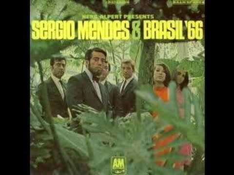 """""""Mas que nada"""" song - Sergio Mendes & Brasil '66   Sérgio Santos Mendes born February 11, 1941 in Niterói, Brazil. He has released over thirty-five albums, and plays bossa nova heavily crossed with jazz and funk."""