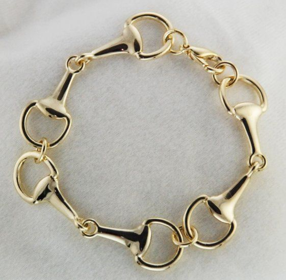Ride in Style w this Bit Bracelet https://www.etsy.com/listing/187593245/gold-snaffle-three-horse-bit-bracelet