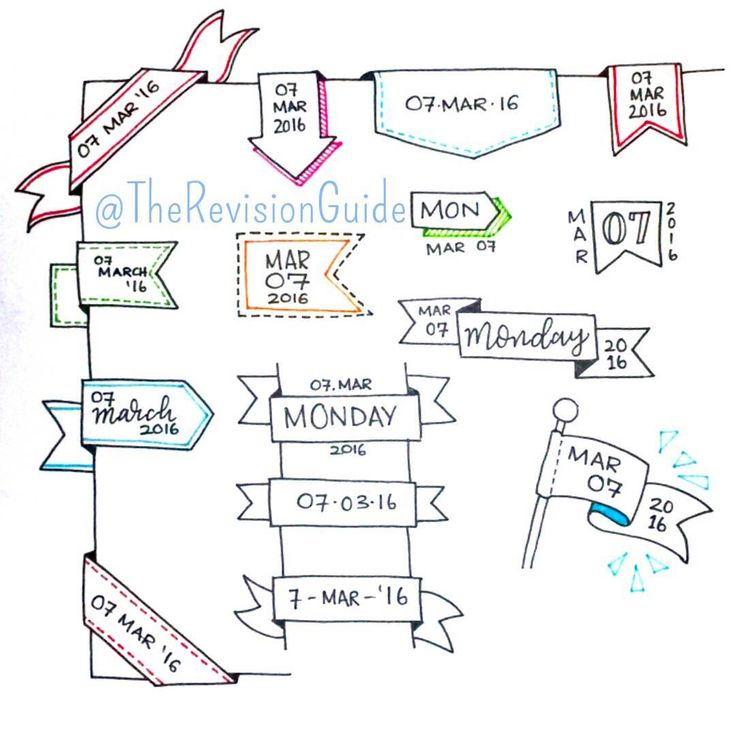 """Ideas for banner dates.. #TheRevisionGuide_HowTo #TheRevisionGuide_Banners . . #study #doodle #studying #studyblr #studytime #studygram…"""