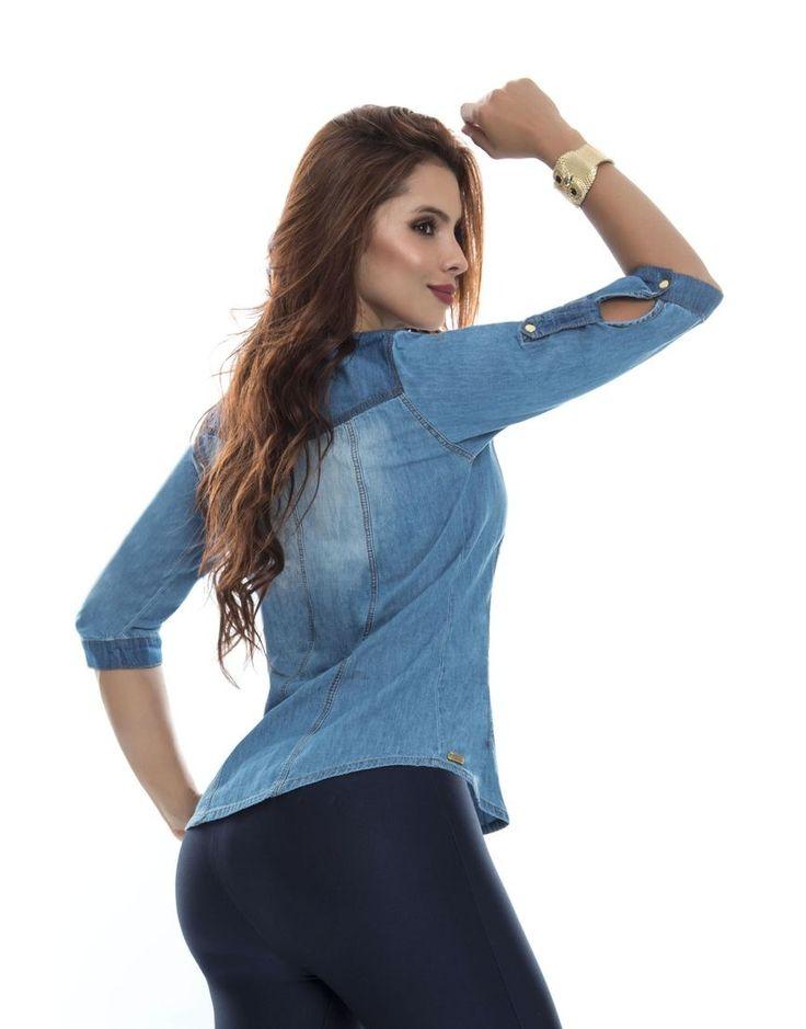 Blusa BL 4055 Trasera Tenemos novedades en blusas dama.  Todos los modelos disponibles en: https://jeanspitbull.com/catalogo-de-blusas-y-tops  #vestidos #dress #dama #figura #modalatina #modamujer #modadama #novedades #newcollecion  #ventasonline #modamedellin #fashion #cool