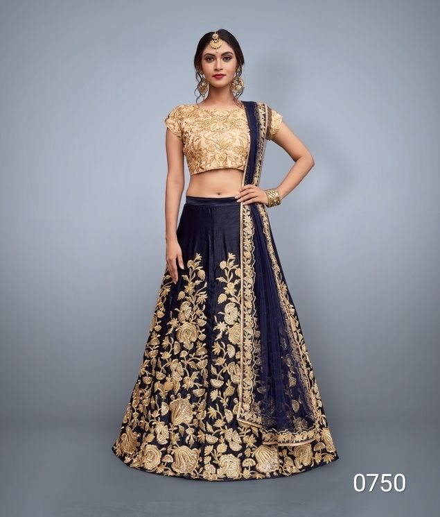 1dd98a3d4b Designer Art Silk Lehenga Choli with Heavy Embroidery and Dupatta Set 0750