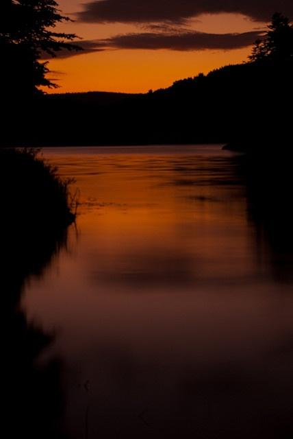 Sunset at Solina Lake, Bieszczady, Poland