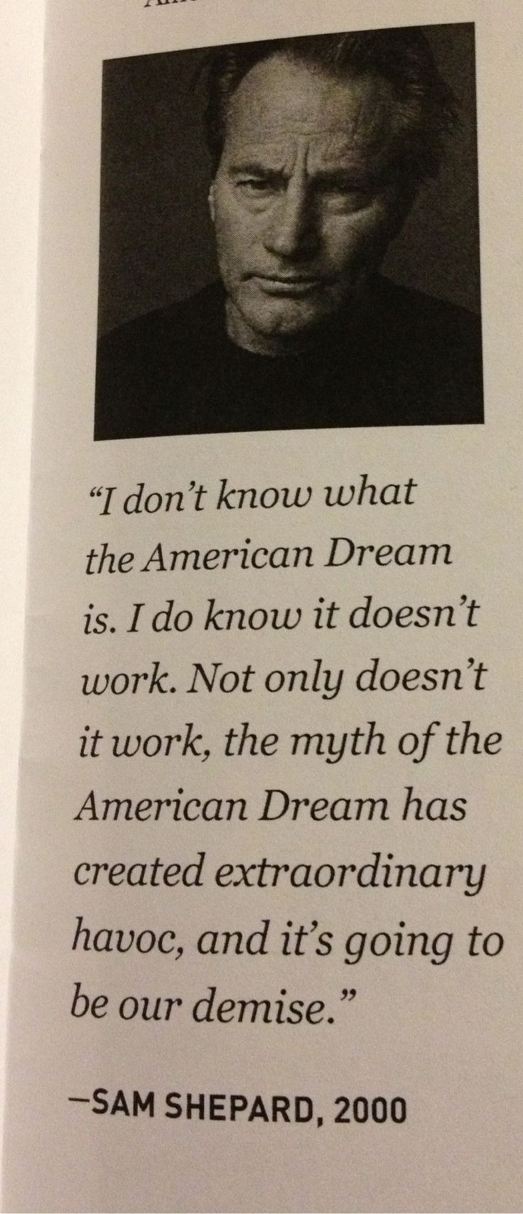 Sam Shepard   #quote