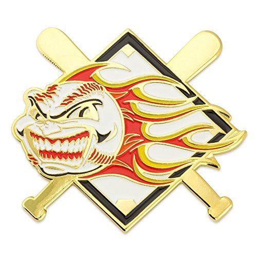 Baseball U2013 Flaming Ball Pin