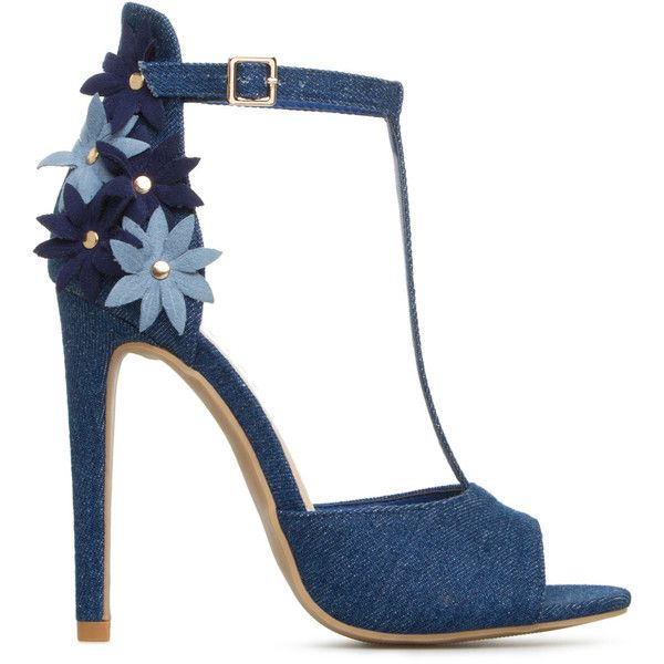 ShoeDazzle Sandals-Dressy - Single Sole Wendy Womens Blue ❤ liked on Polyvore featuring shoes, sandals, heels, sapatos, blue, sandals-dressy - single sole, blue sandals, fancy shoes, flower shoes and fancy sandals