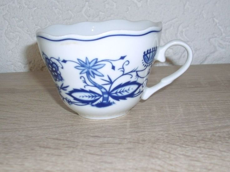 Kaffee Tasse Zwiebelmuster Triptis Porzellan www.maisold24.com