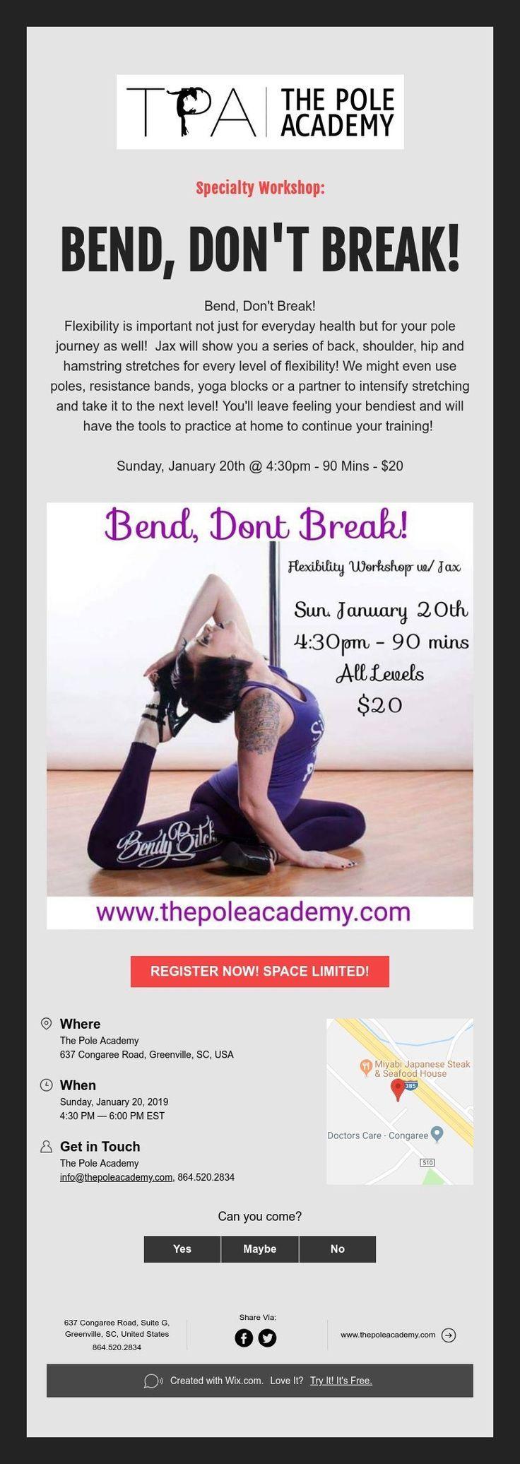 Specialty BEND, DON'T BREAK! Hamstring stretch