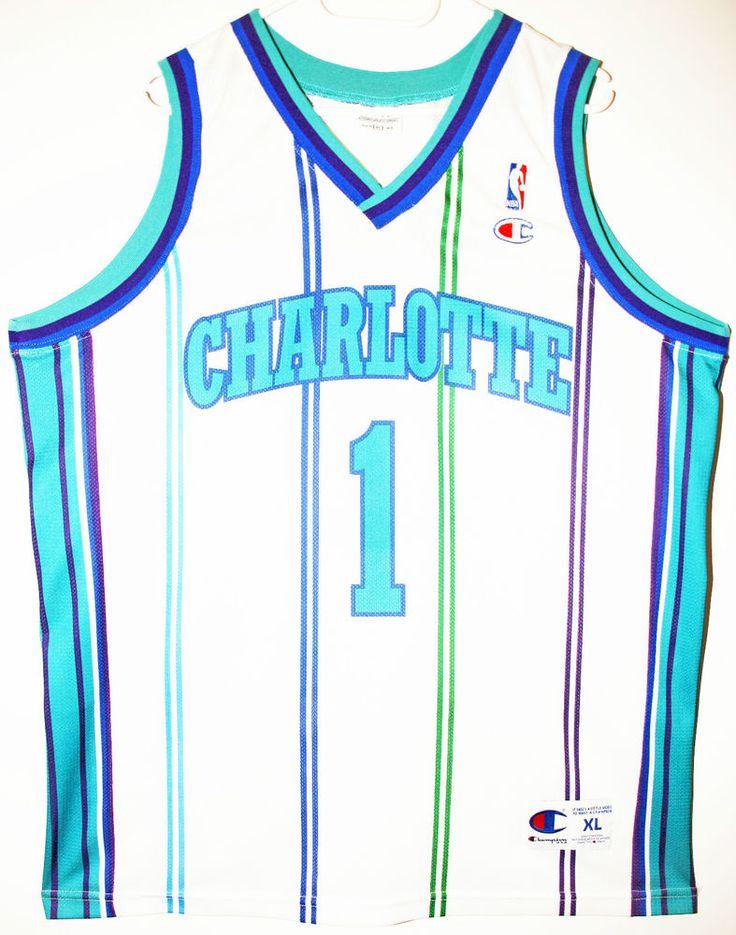 Champion NBA Basketball Charlotte Hornets #1 Baron Davis Trikot/Jersey Size 48 - Größe XL - 69,90€ #nba #basketball #trikot #jersey #ebay #sport #fitness #fanartikel #merchandise #usa #america #fashion #mode #collectable #memorabilia #allbigeverything