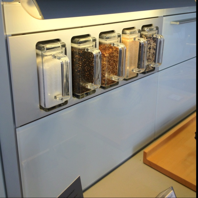 Kitchen containers in the wall