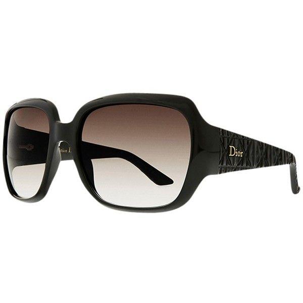 Christian Dior Ladies Dior Frisson 1 Sunglasses, Shiny Black ($290) ❤ liked on Polyvore
