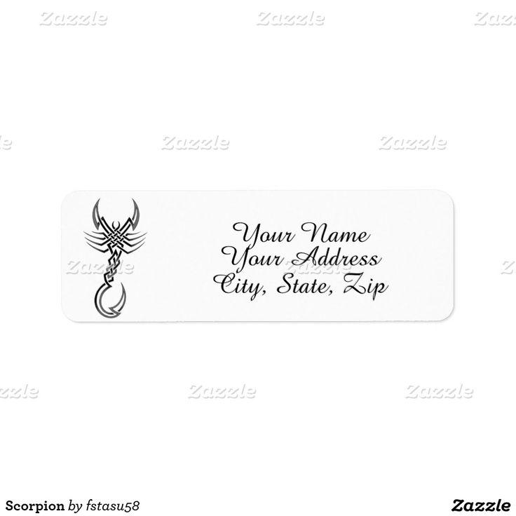 Scorpion Return Address Label