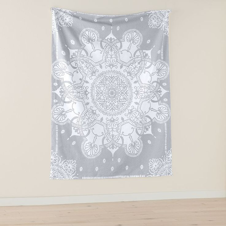 Simple by Design Gray Medallion Wall Tapestry, Grey