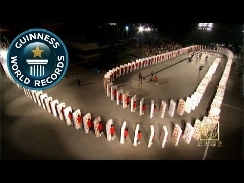 World's Largest Human Mattress Dominoes