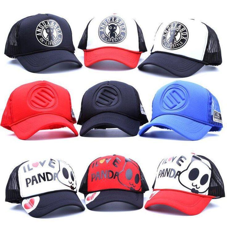 Unisex Men Women Hip-Hop Hats Truck Driver Baseball Golf Mesh Cap Snapback Adjustable Hat sun hat Blank Curved visor 20 color