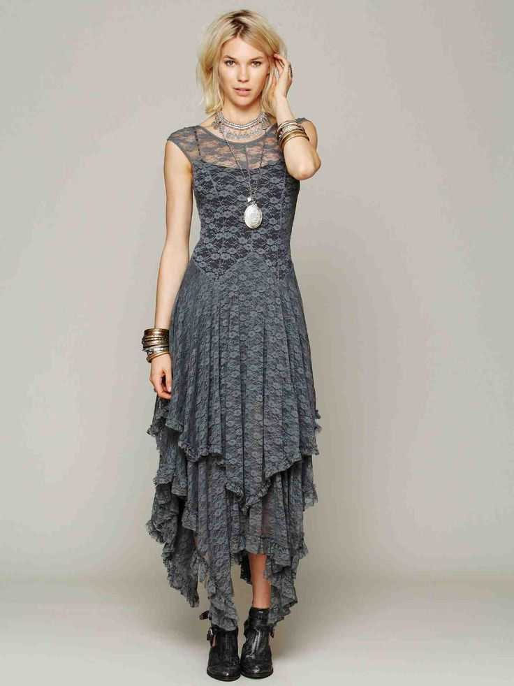 Bohemian boho long lace maxi dress brand grey beige rose pink black irregular asymmetrical bridesmaid lace dresses robe vestidos