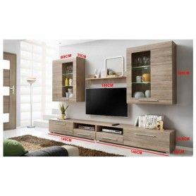 Ensemble meuble TV murale Timber 280 Référence  AMC-004  État :  Nouveau  Vous ne pourrez pas résister a rénover votre salon avec ce meuble complet, esthétiquement élégant et étonnant
