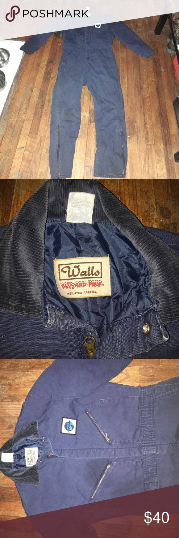Walls blizzard pruf coveralls Walls blizzard pruf insulted navy coveralls. Slightly worn but still in great shape Walls Other