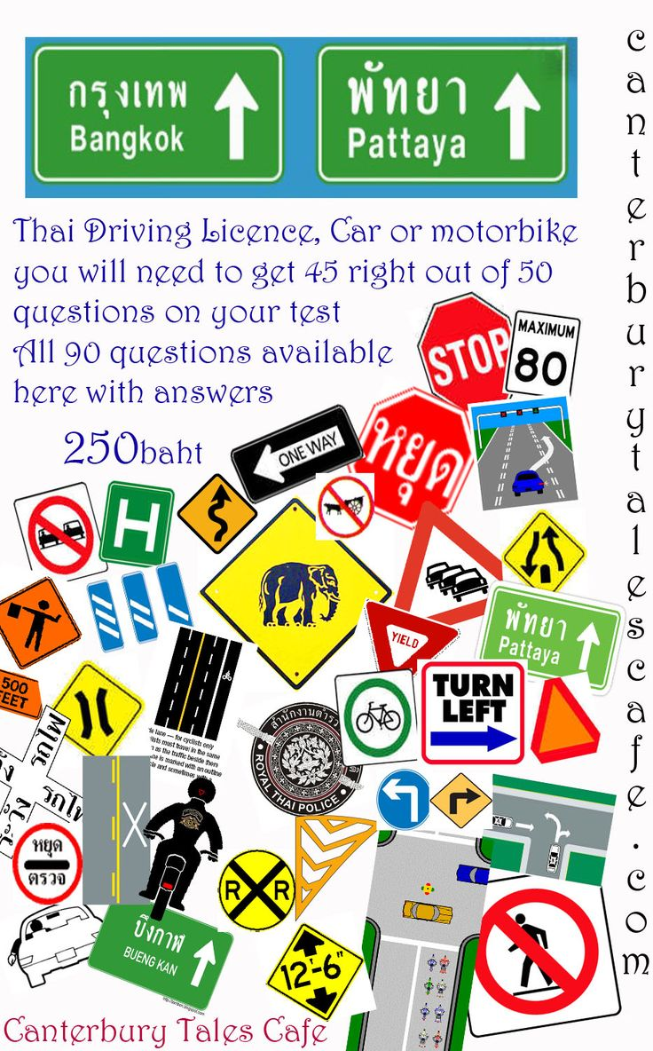 Thai driving licence pass your test pack all forms and info on how to pass