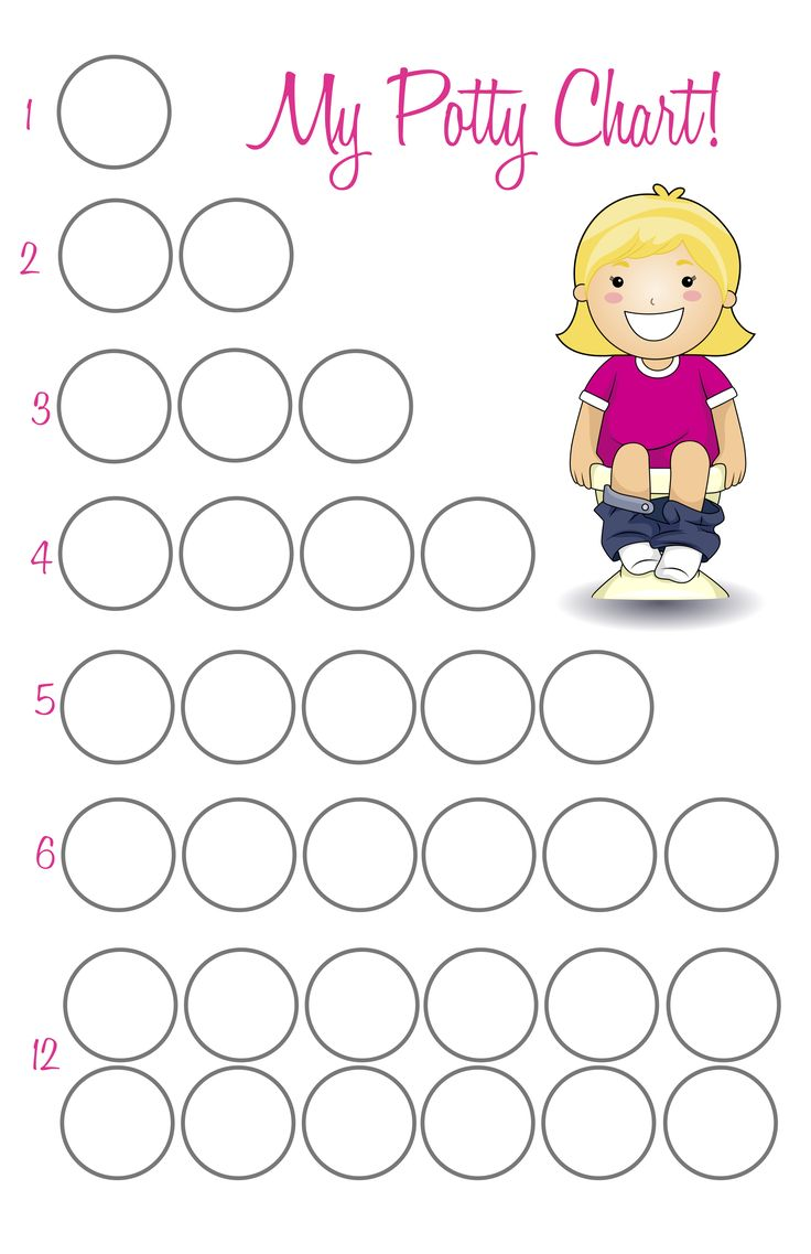 free printable  potty training sticker chart