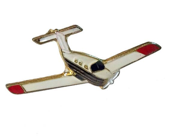 """PRIVATE PLANE vintage enamel pin lapel badge CESSNA Skyhawk Airplane by VintageTrafficUSA  14.00 USD  A vintage plane pin! Excellent condition. Measures: approx 1"""" 20 years old hard to find vintage high-quality cloisonne lapel/pin. Beautiful die struck metal pin with colored glass enamel filling. Add inspiration to your handbag tie jacket backpack hat or wall. Have some individuality = some flair! -------------------------------------------- SECOND ITEM SHIPS FREE IN USA!!! LOW SHIPPING…"""