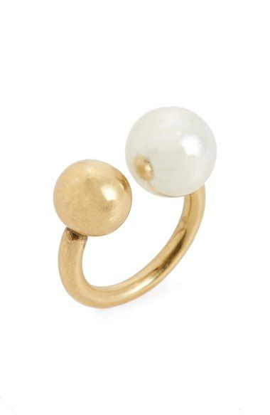 MADEWELL Faux Pearl Ring. #madewell #