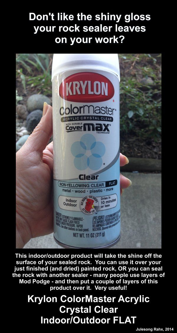 Don't like the shine your rock sealer leaves on your work?  Here's a recommendation for a clear sealer product that'll take the shine right off and leave it just the way you want it.  :)
