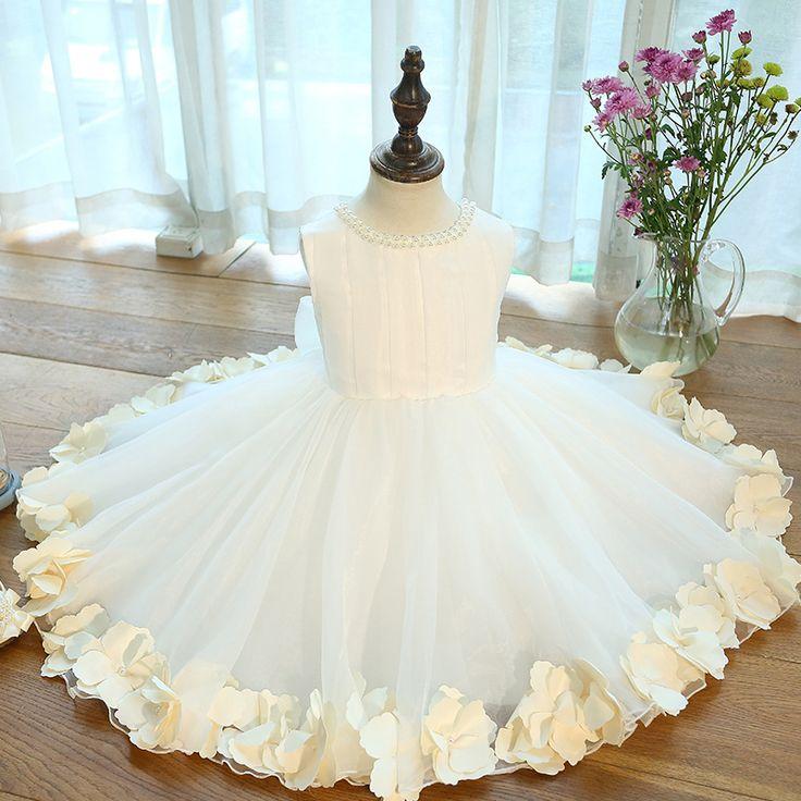Pageant платья для маленьких девочек 1 й день рождения платья для девочек павлин вечернее платье лето девочка платье цветочные свадебные купить на AliExpress