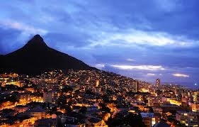 Overnight view of Cape Town