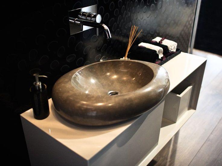 Countertop Oval Calcareous Stone Washbasin By Pedrantiqua   Pedras. Toilet  AccessoriesBathroom FixturesBathroomsStonesMiamiCountertopsCounter ...