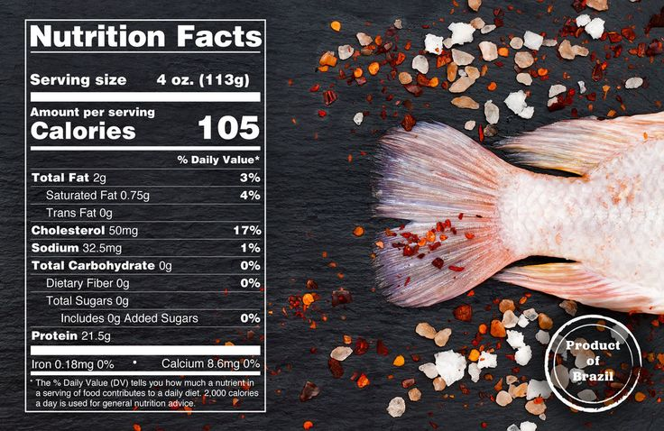 Nutrition Facts for Fresh Tilapia from Brazil #eattilapia
