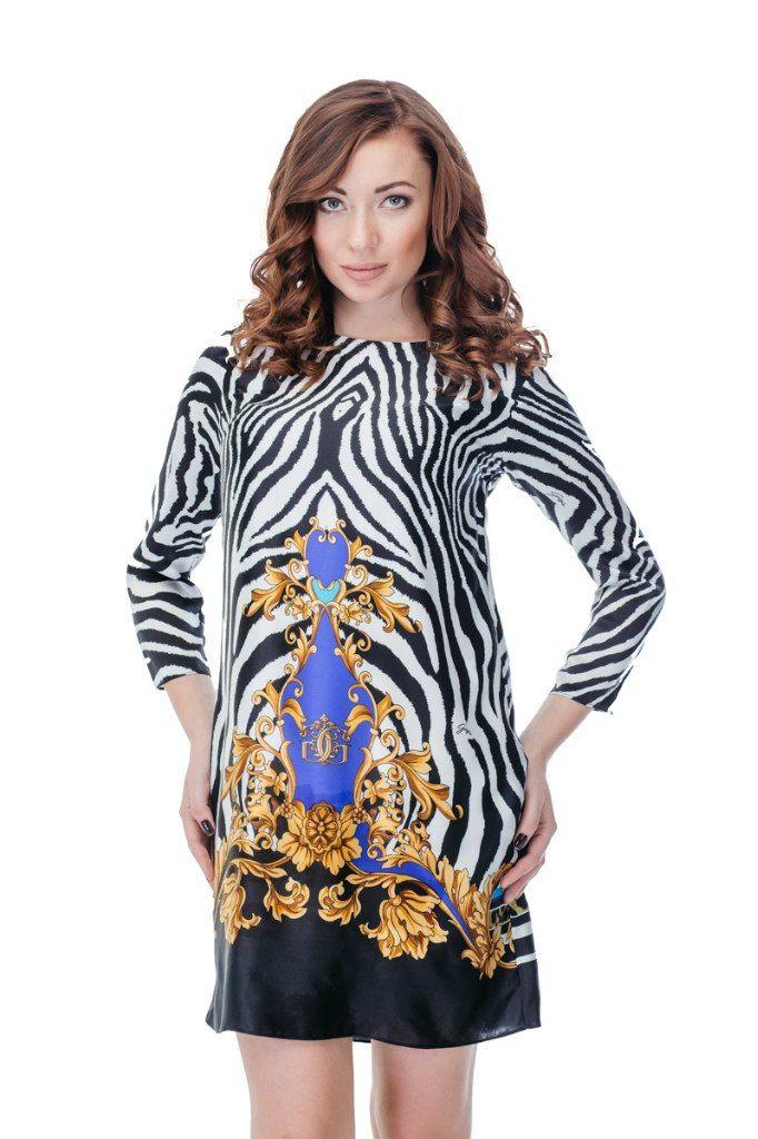 Платье GIZIA Артикул 010-010-0047 ЦЕНА 6000 руб Размер 36 Оригинальное платье от GIZIA выполнено из гладкого натурального шелка . Полосатый принт платья выгодно подчеркивает достоинства фигуры. Платье имеет ассиметричный подол, расклешенный к низу крой, круглый вырез. Замеры для размера 36: Длина изделия: выше колена 84 см. Длина рукава: 50 см. Вид застежки: молния сзади.
